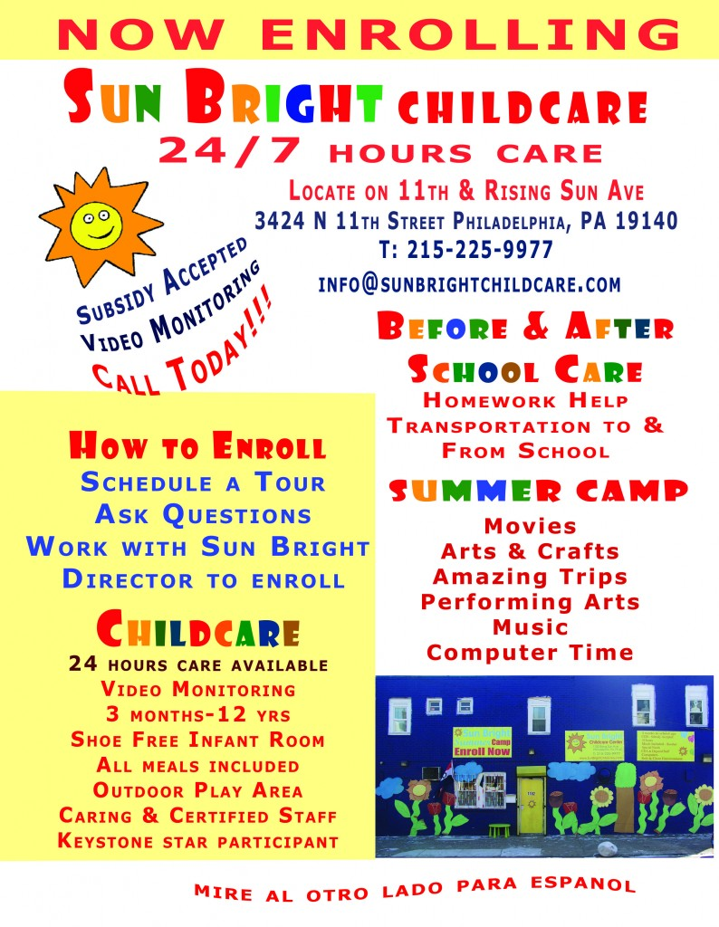Sun Bright Childcare - Philadelphia-PA -24 hour